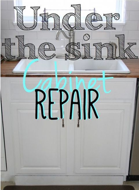 Replacing the Under Sink Cabinet Floor | Under kitchen ...