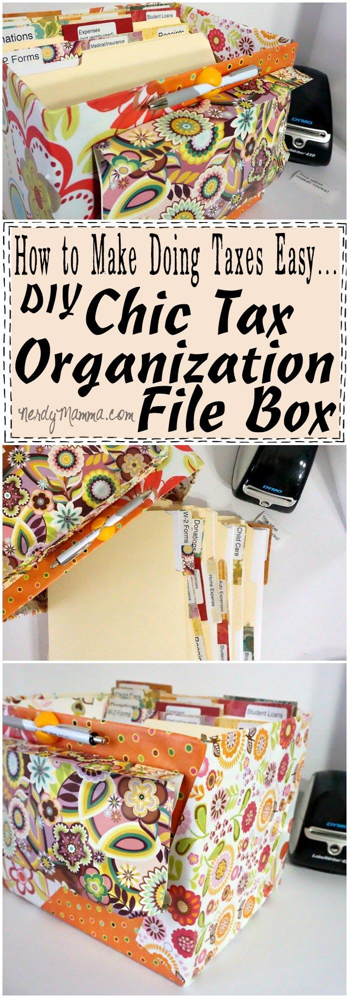 Make Doing Taxes Easy DIY Chic Tax Organization File Box
