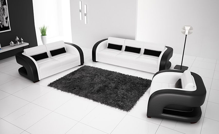 2013 New Europe Design Moden Minimalist 1 2 3 Combination Genuine Cattle Leather Sofa Classic Black And White Home Fu Modern Sofa Set Sofa Set Designs Sofa Set