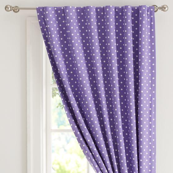 Dottie Blackout Curtain Panel Purple Window Treatments