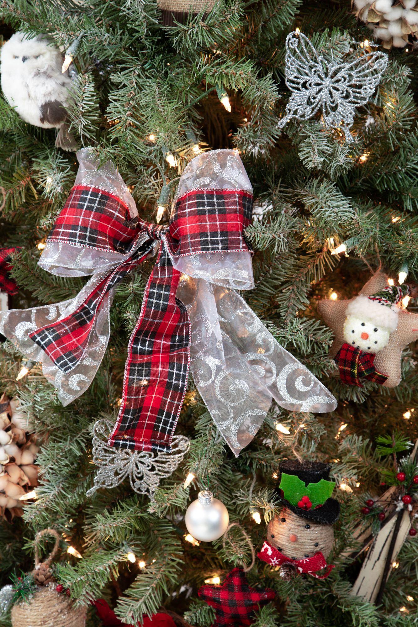Buffalo Plaid Bows Are The Hottest Trend This Christmas Season Shop Treelf Fargo Christmas Tree Ornament Kits Christmas Tree Design Christmas Tree Ornaments
