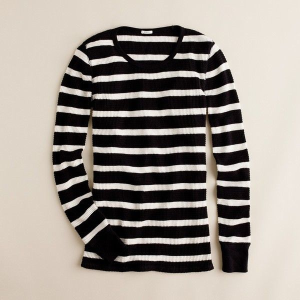 Vintage thermal tee in stripe (20 CAD) found on Polyvore