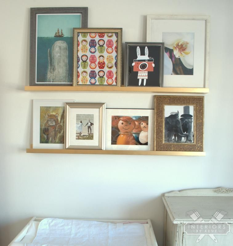 Gallery Wall With IKEA Ribba Ledges | Gallery wall, Ikea