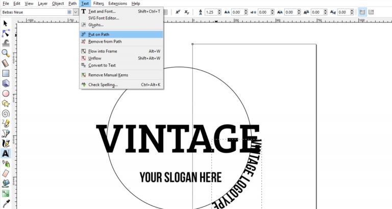 Designing A Vintage Logo In Inkscape Fraphic Vintage Logo Freelance Graphic Design Vintage