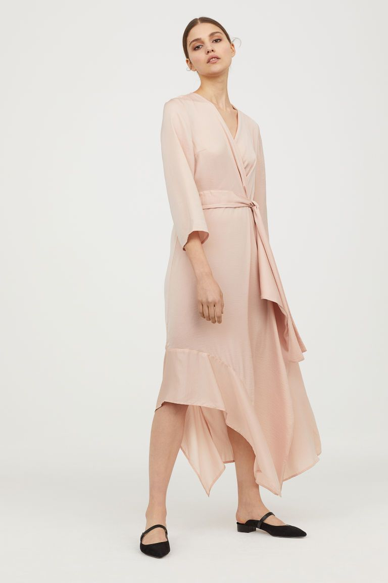 Long satin dress - Powder pink - Ladies | H&M 2 | Kleidid ...