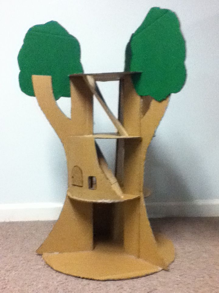The Cardboard Treehouse Pets Tuck Tuck Cardboard Playhouse