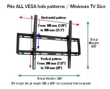 D 9450 Heavy Duty Tv Wall Mount 42 65 Tv Wall Mounted Tv Tv Wall Tv Wall Mounts