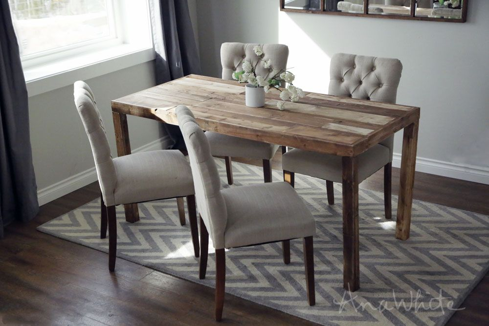 reclaimed wood furniture plans. Ana White | Build A Emmerson Parsons Table - Modern Reclaimed Wood Dining Free And Easy DIY Project Furniture Plans H