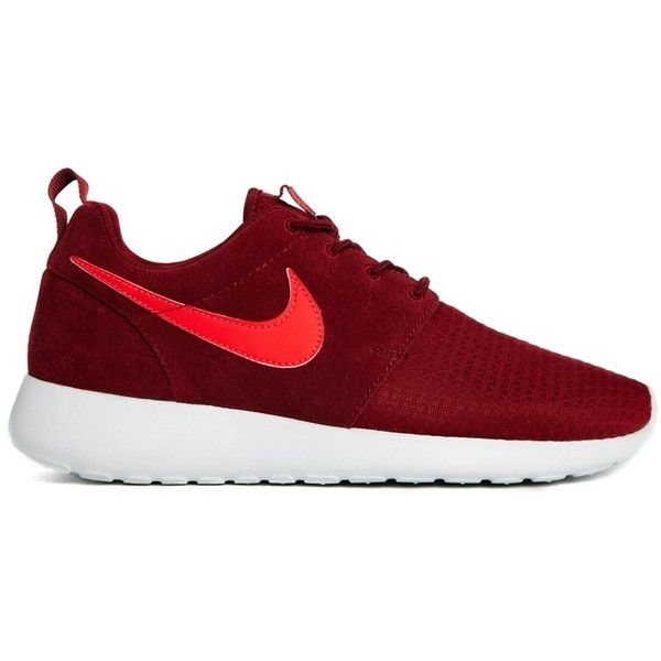 detailed look a8c73 b56ee ... Nike Roshe Run Winter Burgundy Trainers ( 100) ❤ liked on Polyvore  featuring shoes, ...