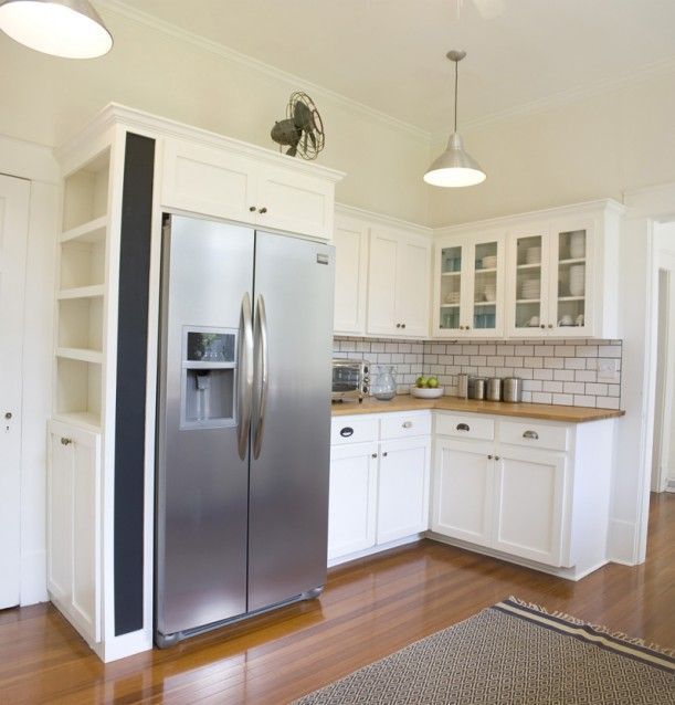 Shallow Open Pantry Shelves In Kitchen: 1925 Kitchen Tile Remodel - Google Search