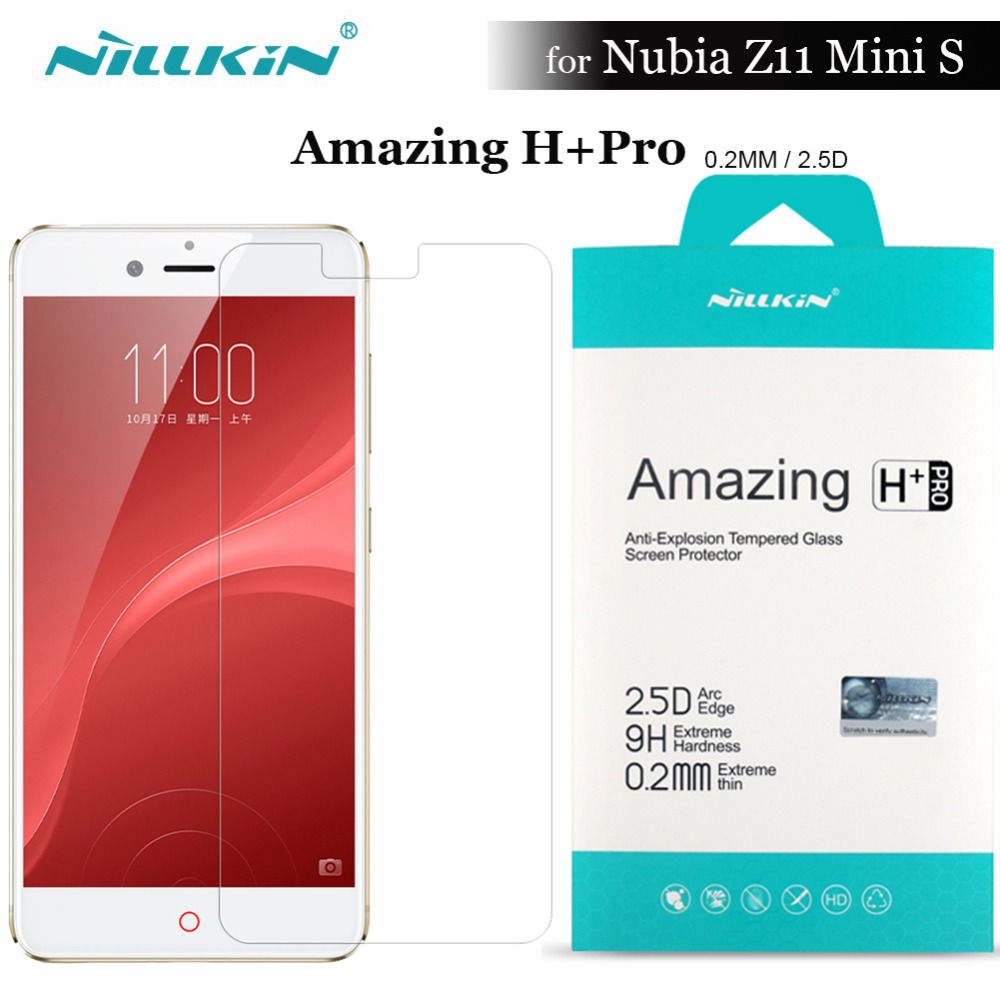 Nubia Z11 Mini S Tempered Glass Nillkin H Pro 02mm 25d Round Edge Norton Xiaomi Redmi Note 3 Screen Protector Film For Zte 52 Inch
