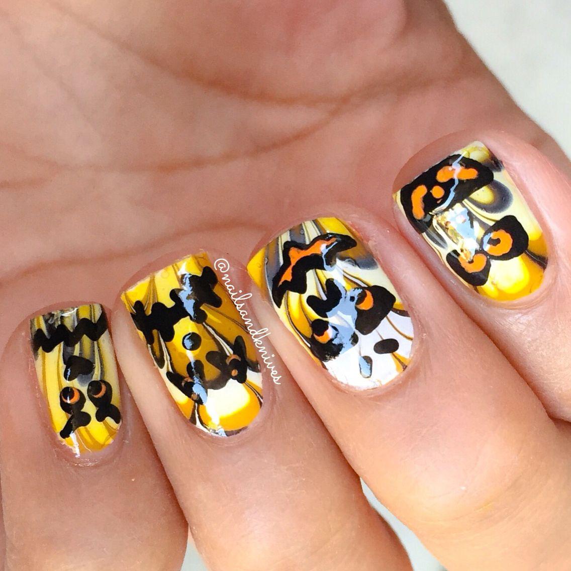 Pumpkin Halloween nails | Halloween nails