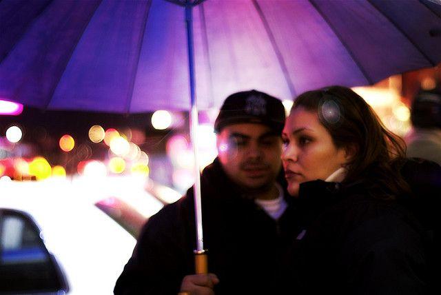 Umbrella night out