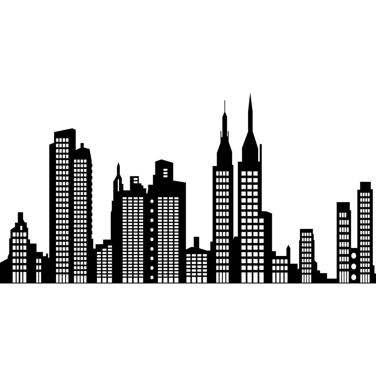related pictures silhouette skyline of new york city ...
