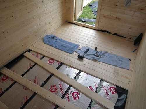 Insulating The Floor Shed Floor Shed Makeover