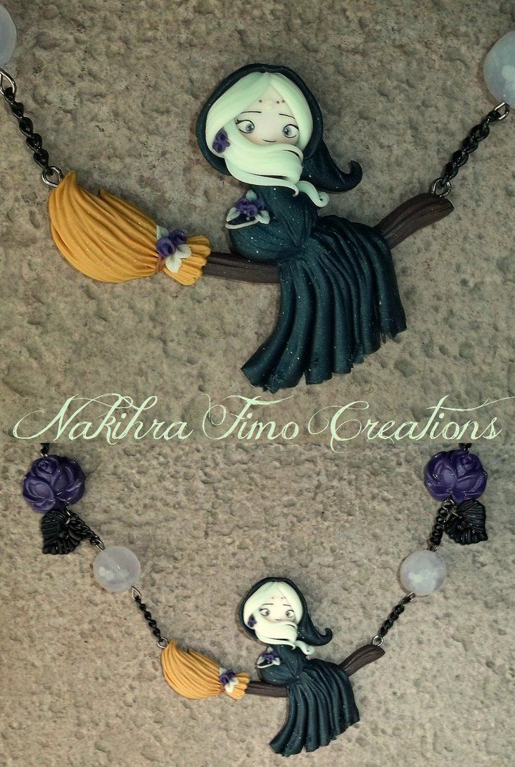 Moon Witch Polymer Clay by Nakihra