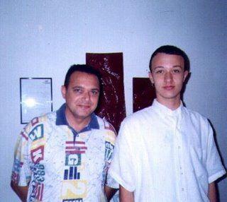 O Vereador de Rifaina-SP, Carlinhos e Edgar Ájax Filho.