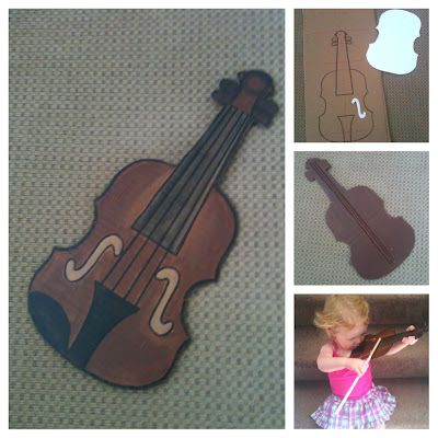 Diy toddler violin out of cardboard try real little instruments at diy toddler violin out of cardboard try real little instruments at a2so instrument petting zoos ccuart Image collections