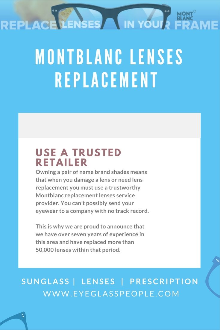Are you in need of Montblanc replacement lenses? Not only are we a ...