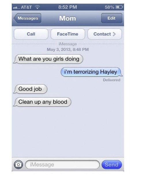 : Hilarious Texts from Moms - mom.me   funny   Funny mom ...