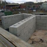 Interlocking Concrete Lego Blocks To Form Bays For Household Waste Concrete Retaining Walls Precast Concrete Concrete Blocks