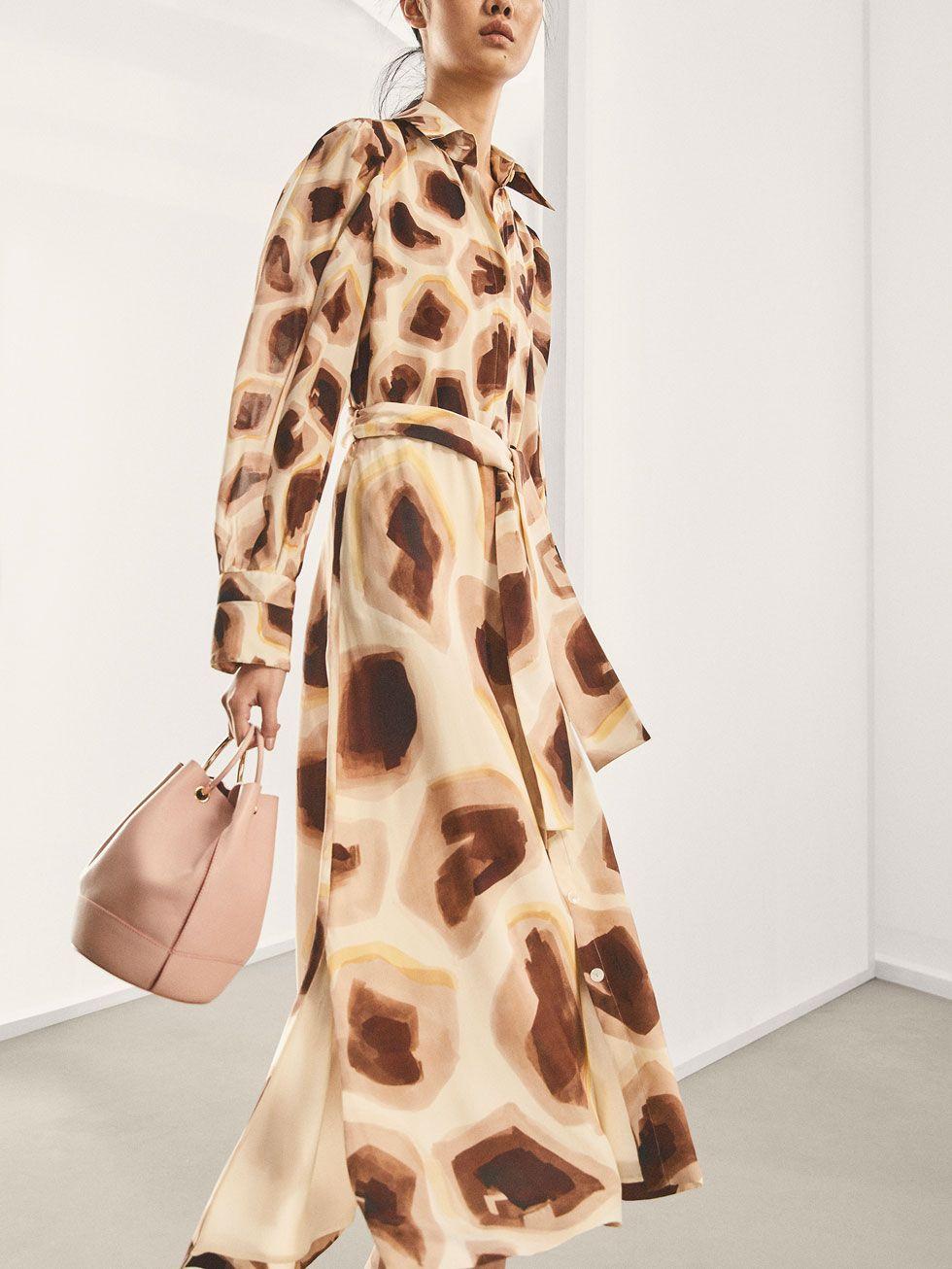 1db0c45c31 LIMITED EDITION GIRAFFE PRINT SILK DRESS - Women - Massimo Dutti ...
