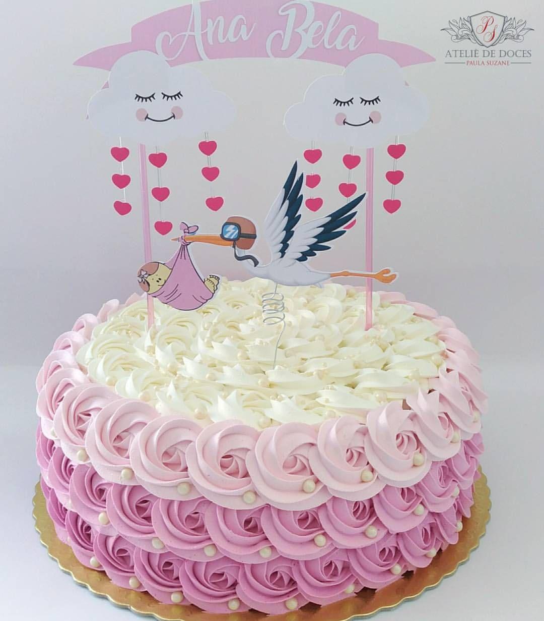 Rosetas Amadas Para O Cha De Bebe Da Ana Bela Topper Cake