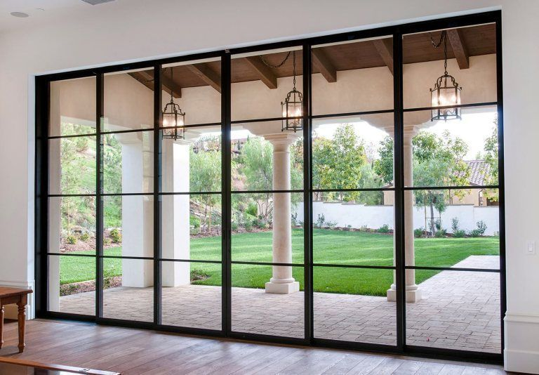 Beautiful Sliding Glass Doors 23 In 2020 Sliding French Doors Sliding Door Design Steel Windows