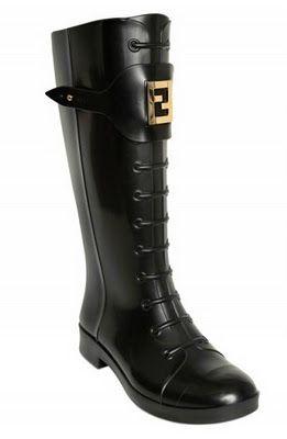 32d42da777b8 30MM Logo Rain Boots by Fendi