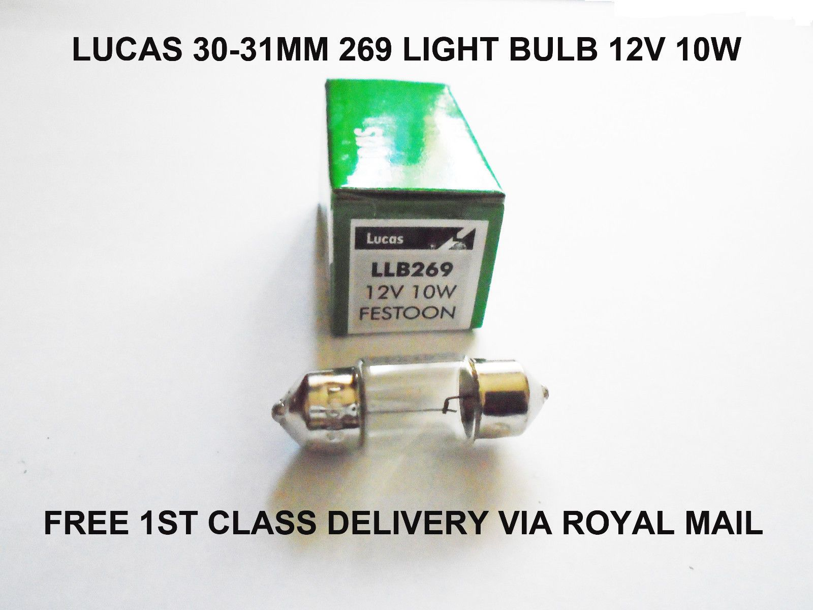 Details About 30mm Lucas 269 Car Festoon Number Plate Interior Sv8 5 Light Bulbs Lamp 12v 10w Light Bulb Lamp Bulb Number Plate