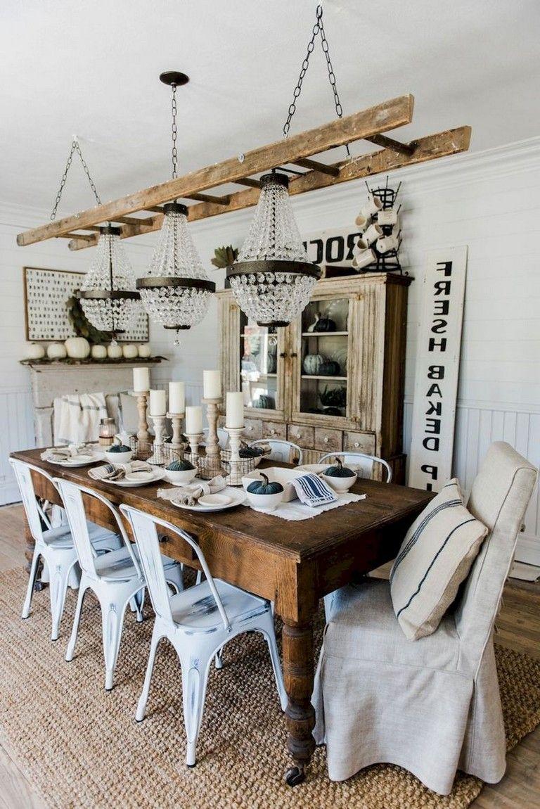 9+ Long Lasting Modern Farmhouse Style Dining Room Design Ideas ...