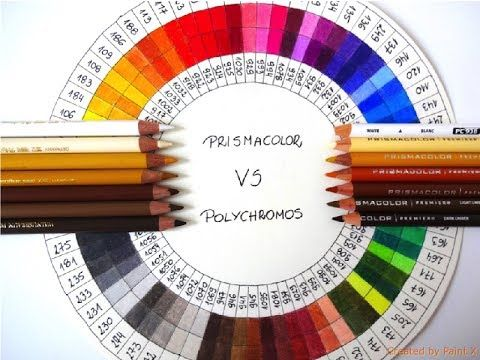Prismacolor Polychromos Colour Comparison Chart In 2020