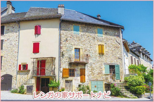 南フランスにある煉瓦の家 南仏のリゾート地域に建てられているレンガ