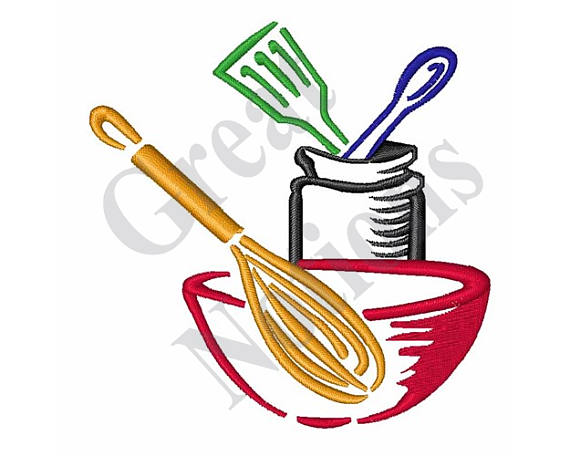 Cooking Utensils Machine Embroidery Design Machine Embroidery