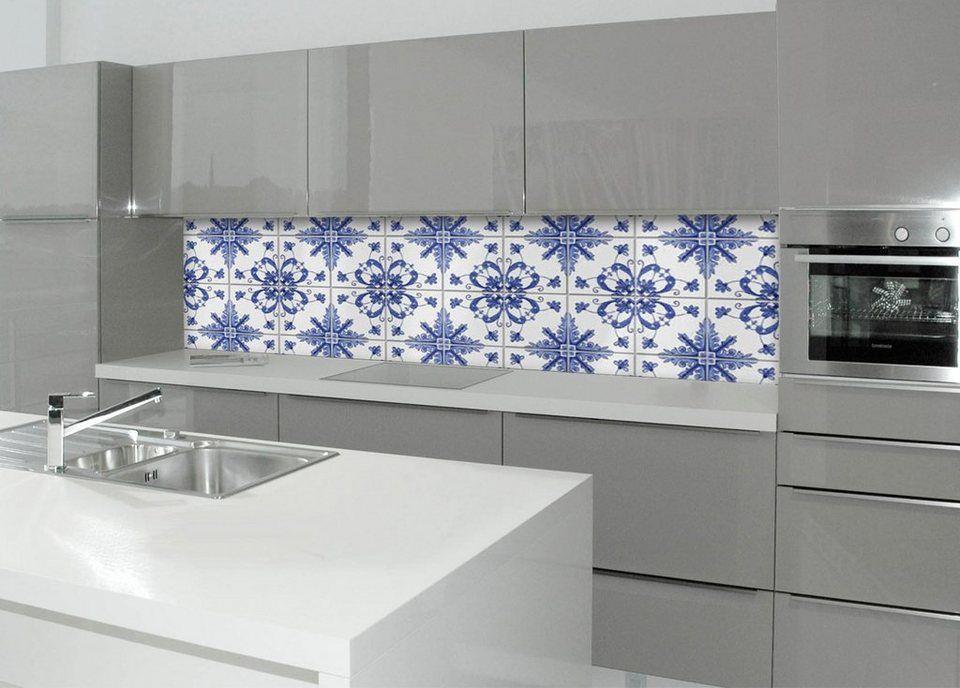 Spritzschutz »profix«, Delfter Fliese, 220x60 cm - fliesen für küchenwand