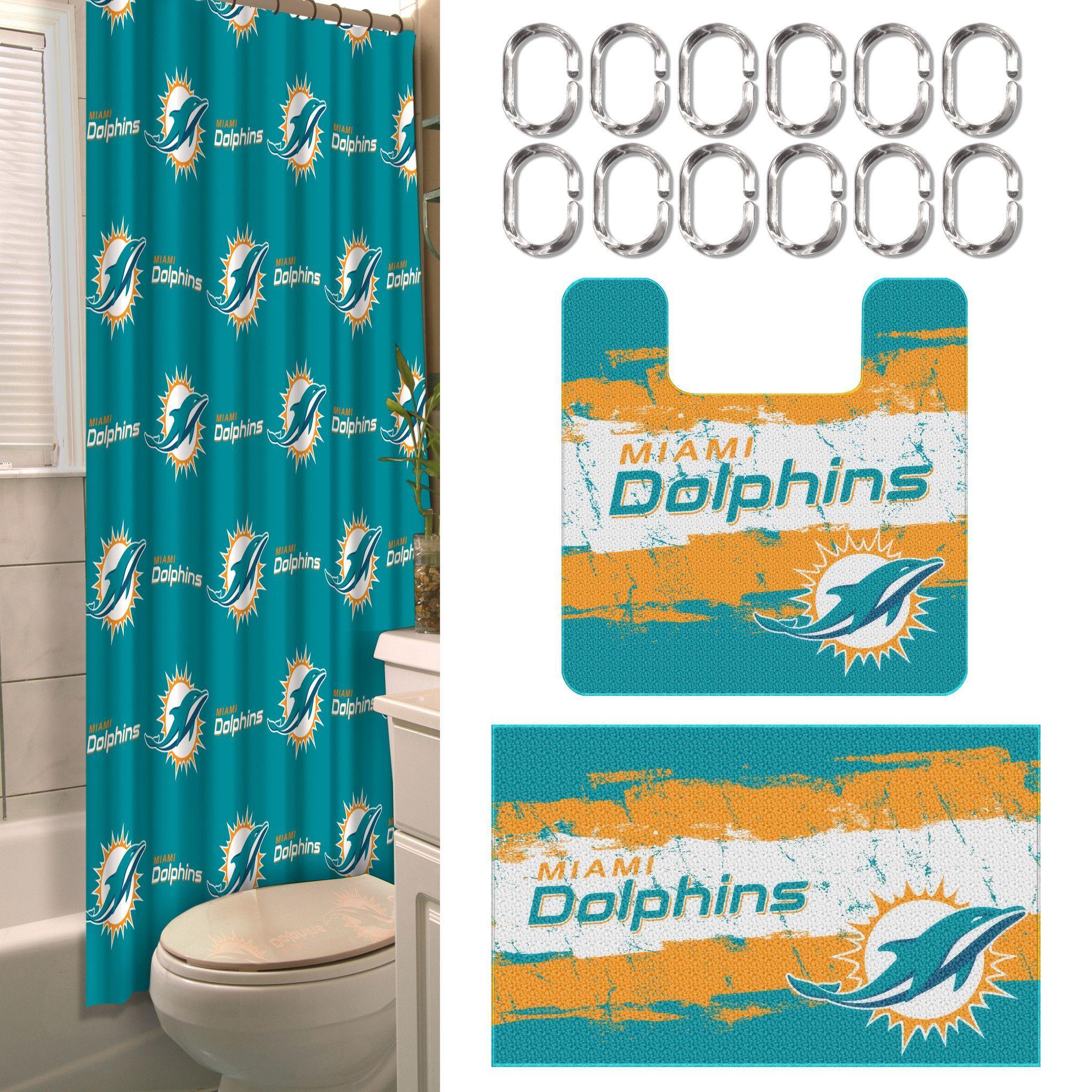 Miami Dolphins 15 Piece Bath Set Miami Dolphins Dolphins Miami