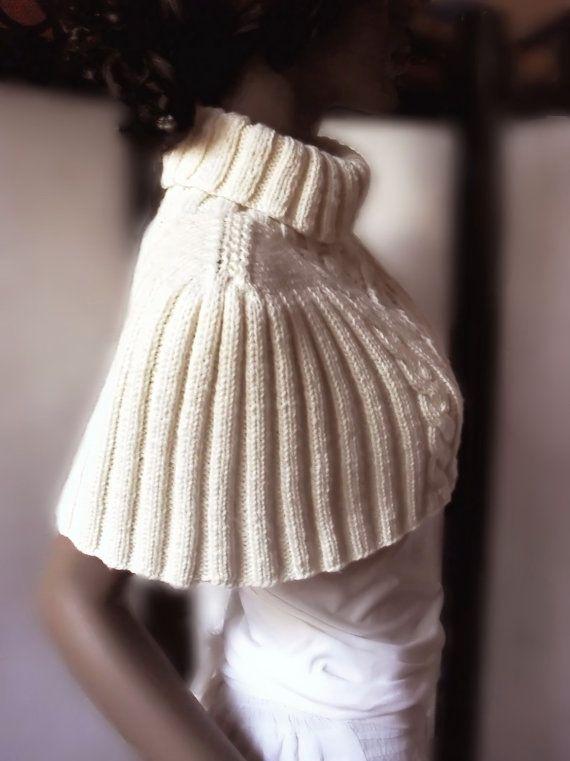 PDF Pattern for Mini Sweater-Capelet | Tejidos | Pinterest | Capucha ...