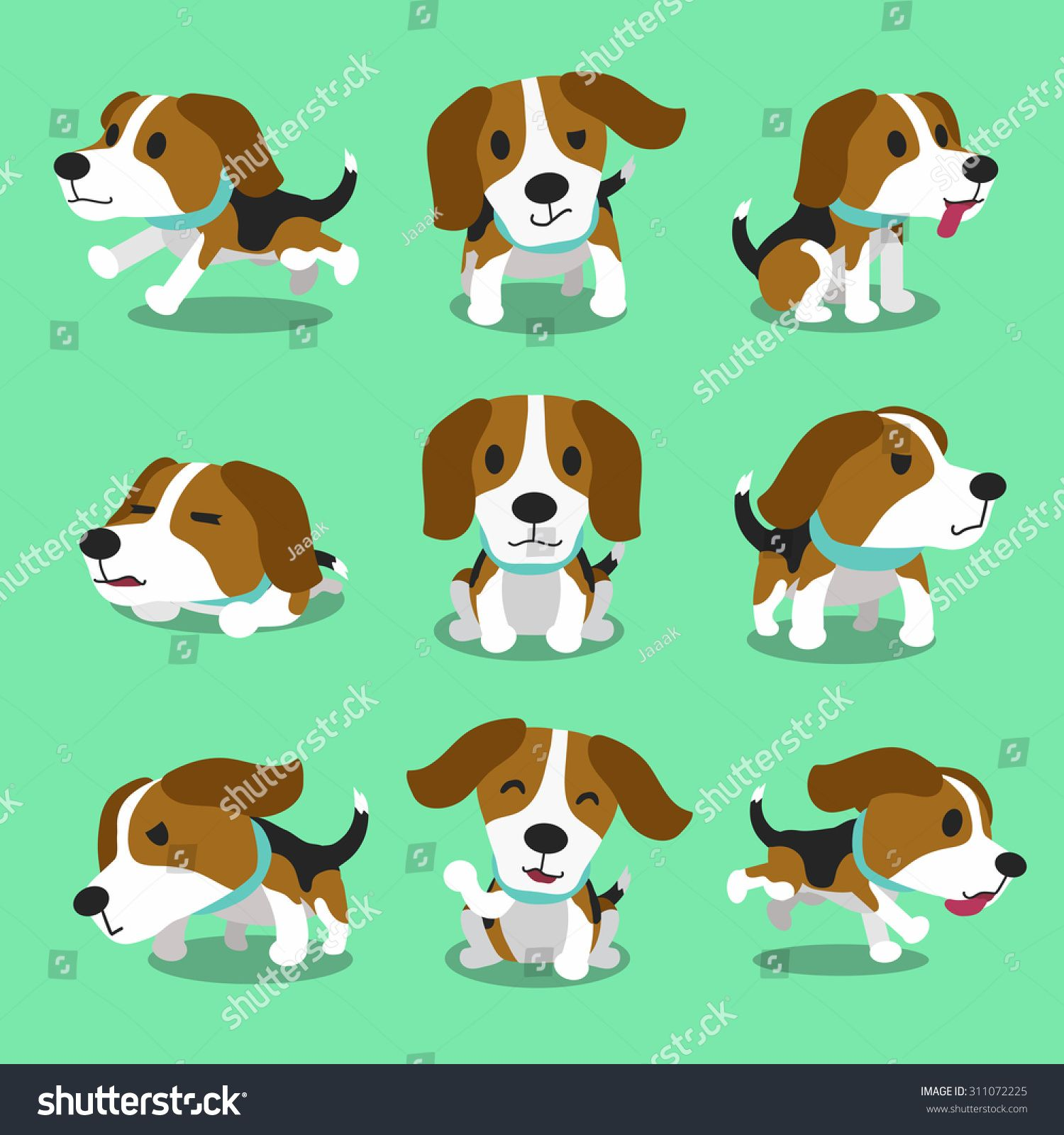 Cartoon Character Beagle Dog Poses Shenki Chihuahua Bigl Shenki