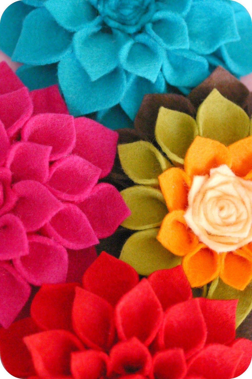 Summary To Make Diy Mothers Day Corsage Felt Dahlia Flower Brooch