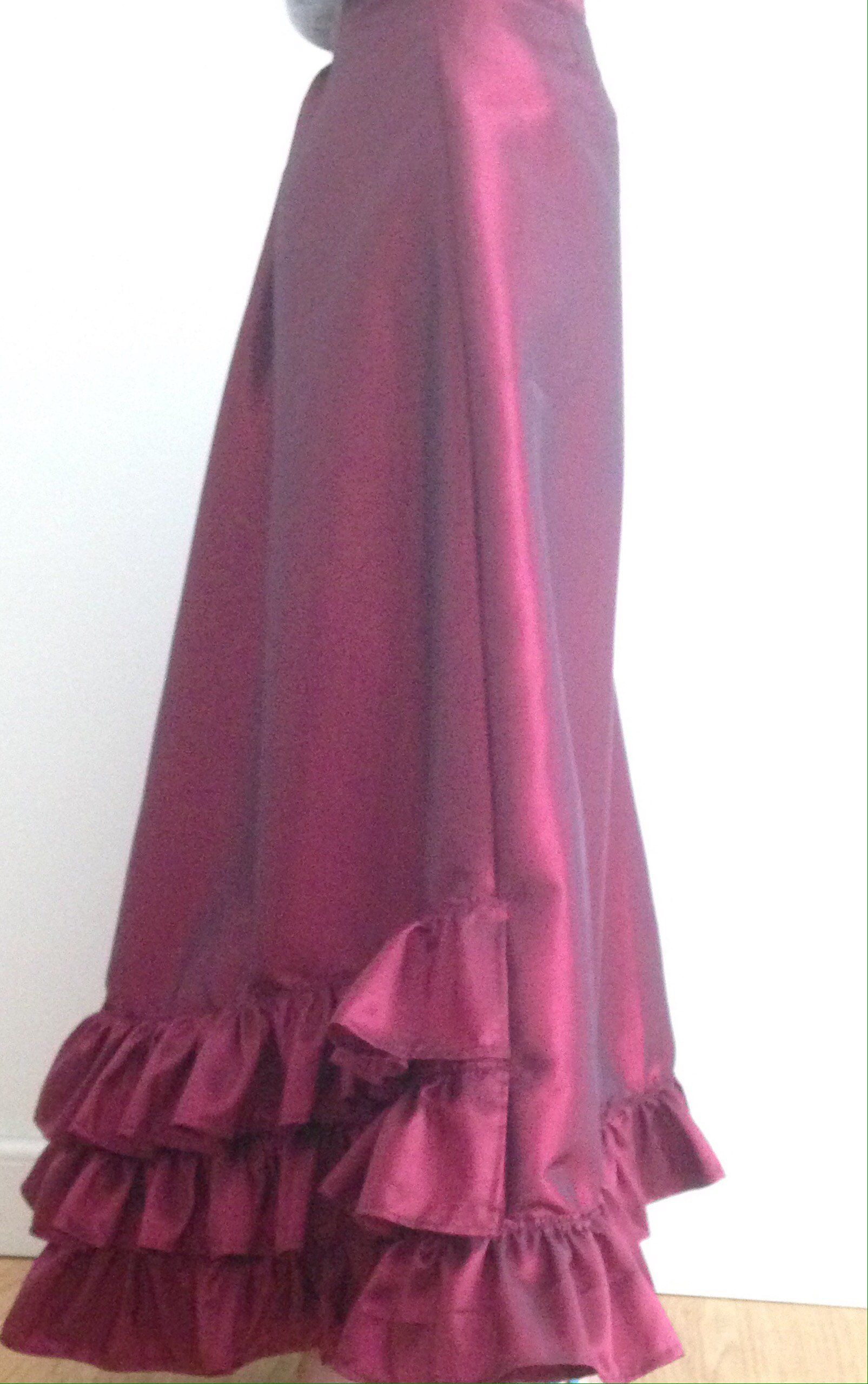 maxi full length skirt Petticoat//underskirt Late Victorian style new taffeta