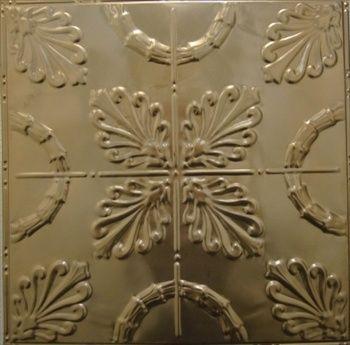 New Color, Soft Copper/Bronze, Tin ceiling tile.
