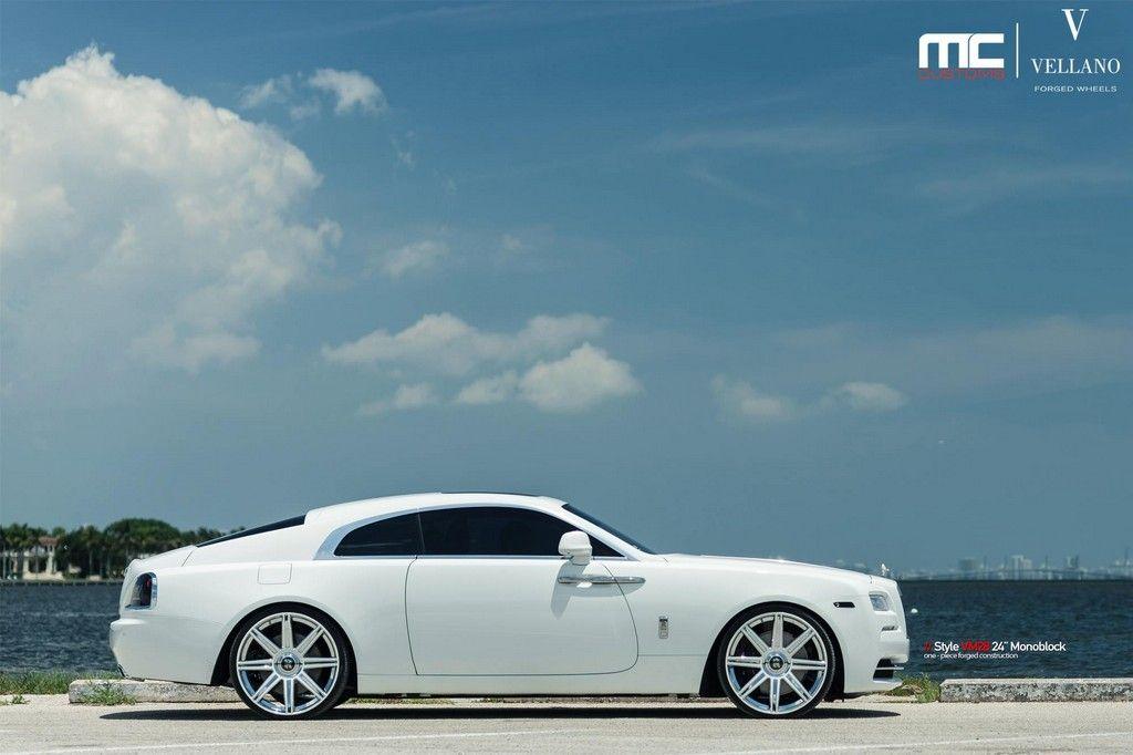 White Rolls Royce Wraith Looks Stunning On Vellano 24s Motorward