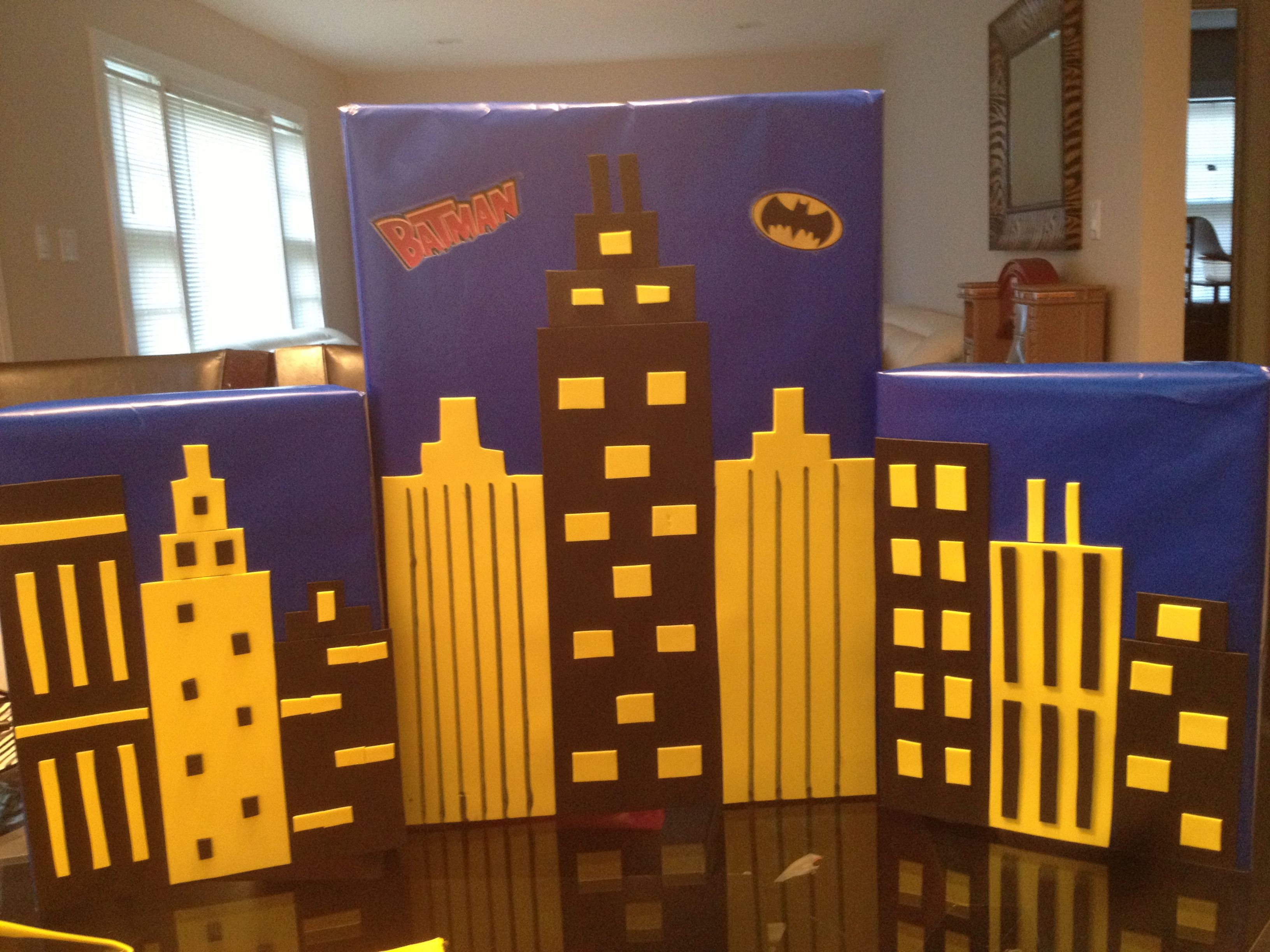 Backdrop superhero party printables batman background backdrop - Gothem City For Batman Party___this Would Be An Awesome Backdrop For Photos Where All The Kids Are Dressed In Their Favorite Superhero Costume
