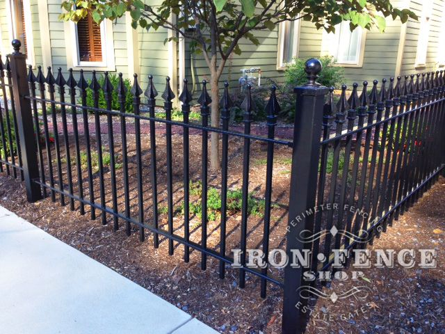3 Foot Tall Stronghold Wrought Iron Fence In Classic Style And