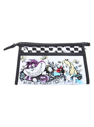 eab75b7822d1 Loungefly Disney Alice In Wonderland Were All Mad Cosmetic Bag   Click  image to review more details.