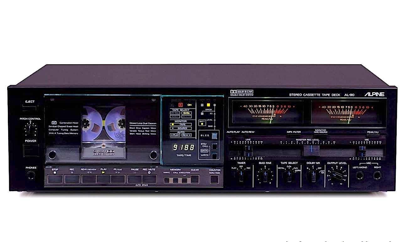 Alpine AL-90 flagship cassette deck