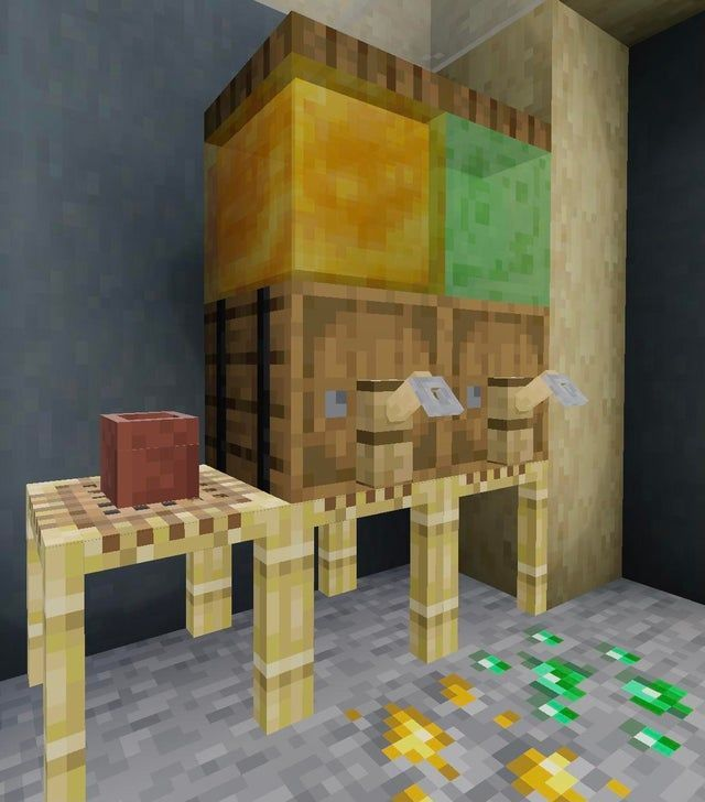 Idk if this has been posted before but honey/slime blocks make for nice juice dispensers