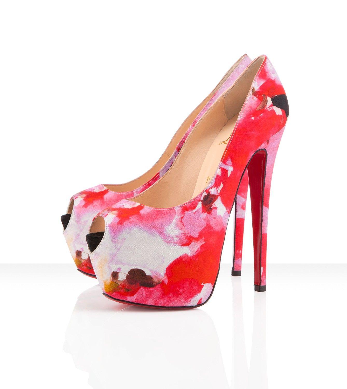 Christian Louboutin Highness 160 Mm 63 Inch Heel In Silk Popi