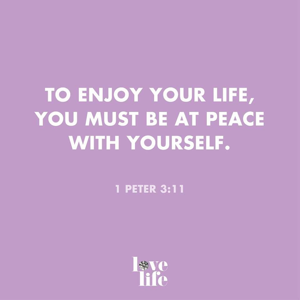 Peace with self