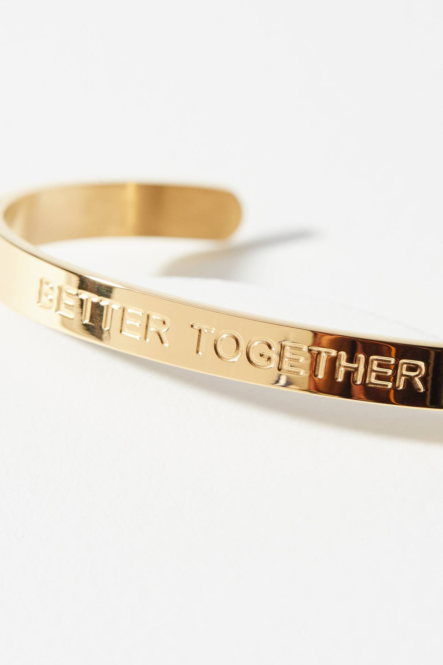 Slide View 2 Strength Sayings Cuff Bracelet